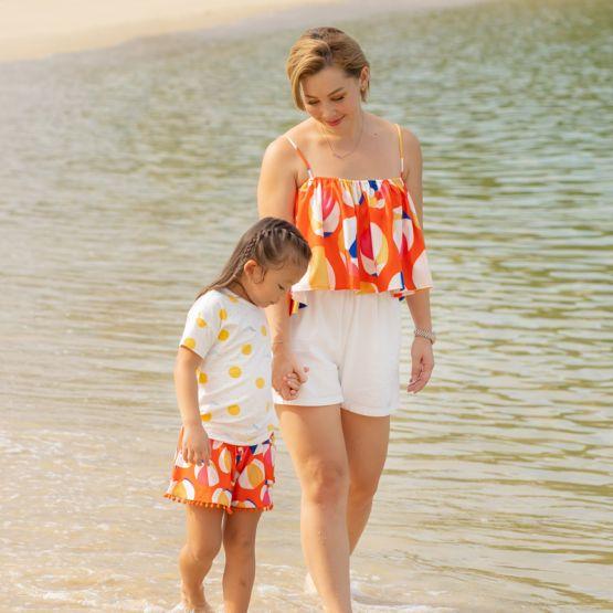 *New* Resort Series - Ladies Top in Beach Ball Print