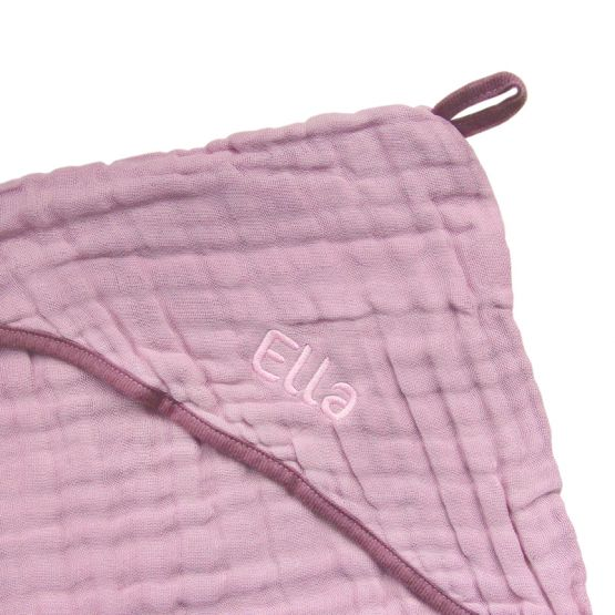 *New* Personalisable Bath Cape in Dusty Pink