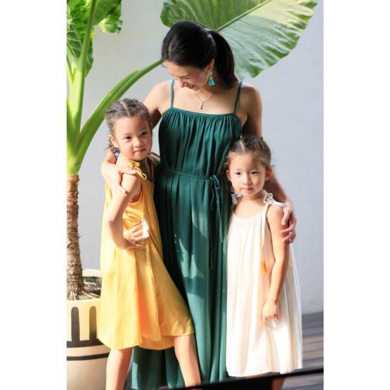 Cami Emerald Green Ladies Swing Maxi Dress