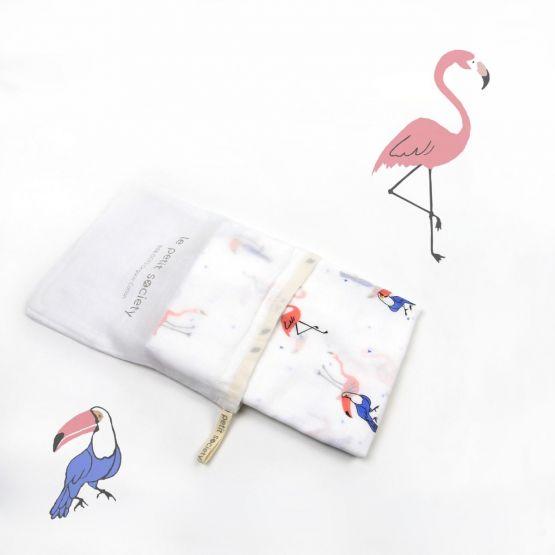 *Bestseller* Organic Muslin Swaddle - Flamingo & Toucan
