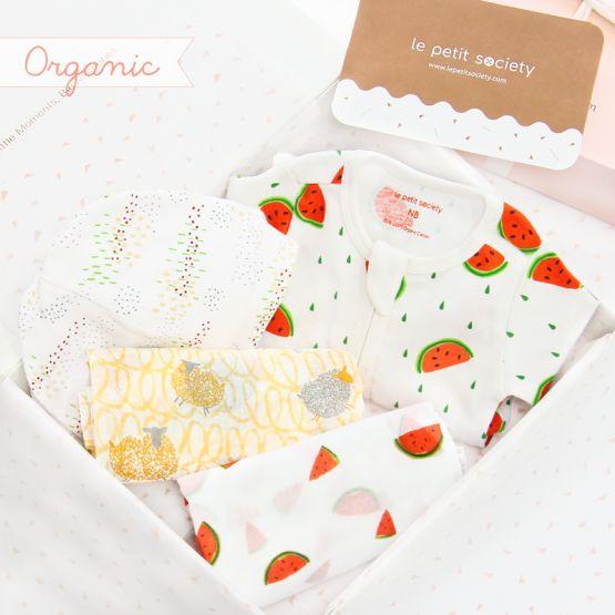 *Bestseller* Baby Organic Gift Set - Melon Swirl