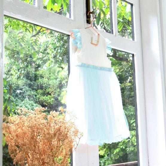 Flower Girl Series - Bubble Dress in Blue