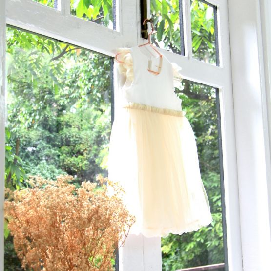 Flower Girl Series - Bubble Dress in Champagne
