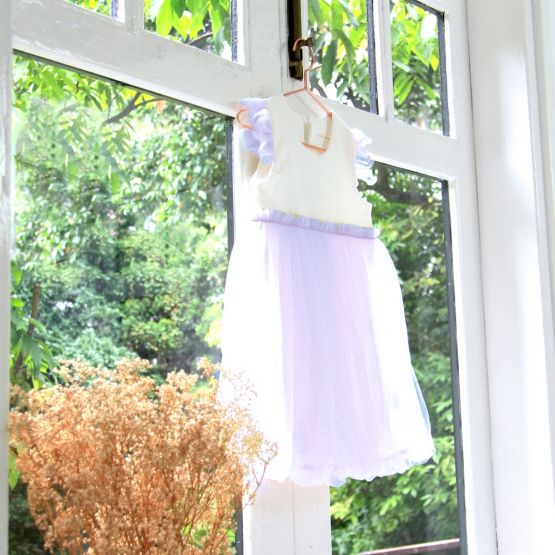 Flower Girl Series - Bubble Dress in Lilac