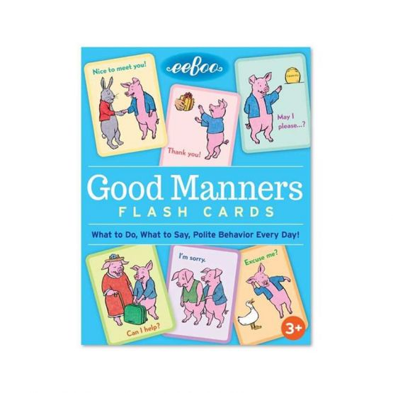 Good Manners Flash Cards by eeBoo