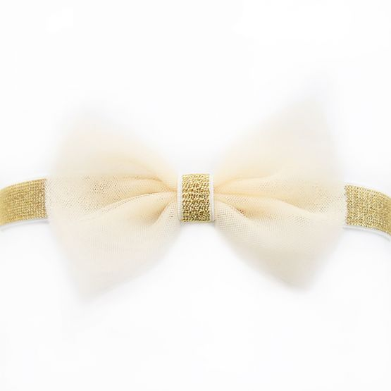 Bow Headband in Champagne