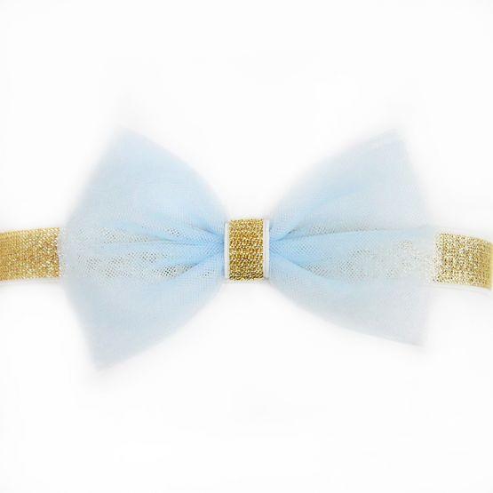 Bow Headband in Blue