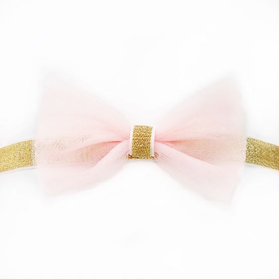 Bow Headband in Soft Pink