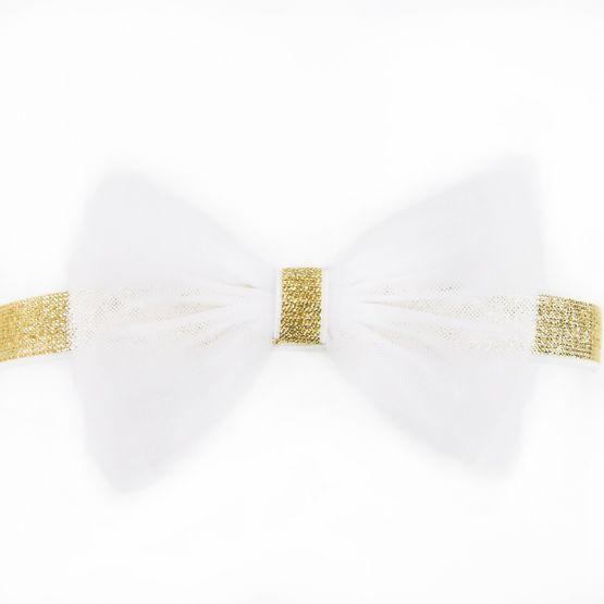 Bow Headband in White
