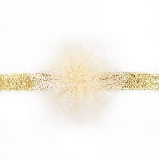 Flower Headband in Champagne