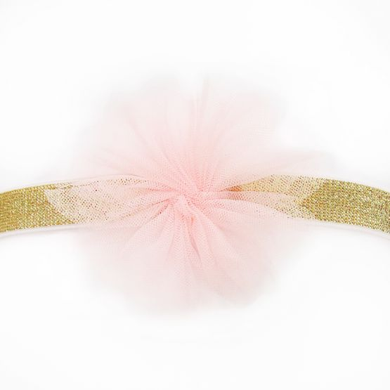 Flower Headband in Soft Pink