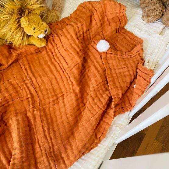 *New* Personalisable Keepsake Kids/Adult Single Blanket in Caramel