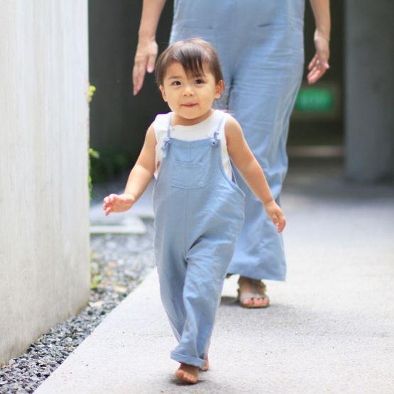 Light Blue Kids Long Overalls