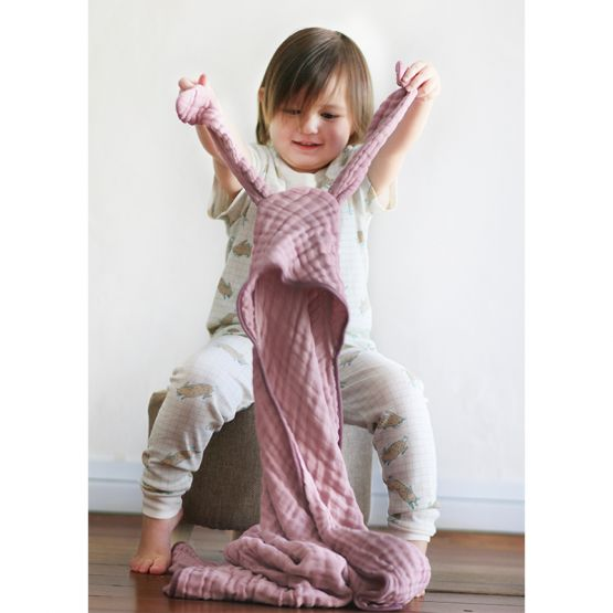 *Bestseller* Personalisable Bunny Bath Cape in Dusty Pink
