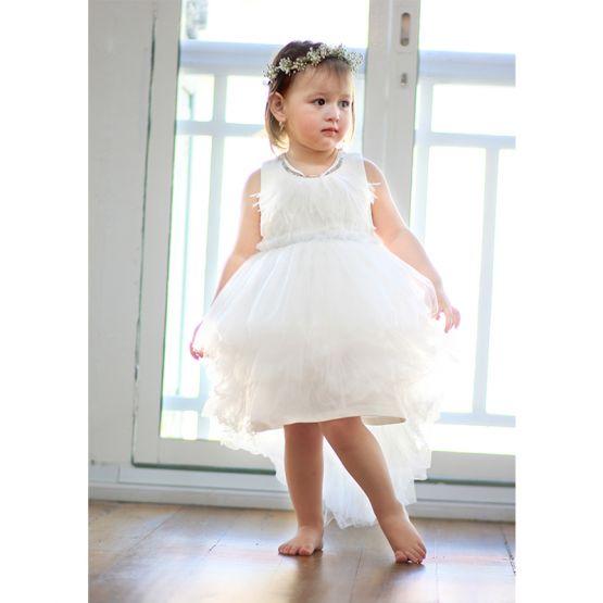 Flower Girl Series - Cascading Dress in White