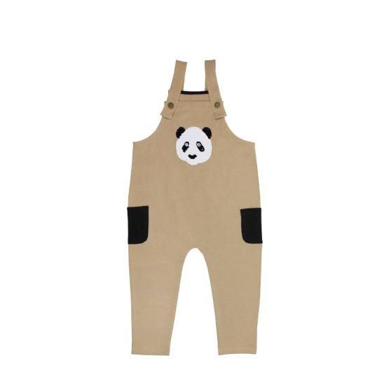 Kids Panda Reversible-Sequins Overalls