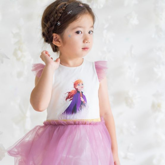 *Disney Frozen 2* Anna Bubble Dress in Dark Magenta