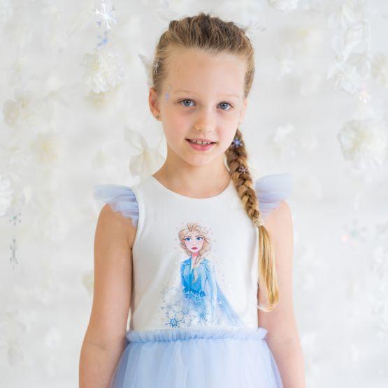 *Disney Frozen 2* Elsa Bubble Dress in Winter Blue