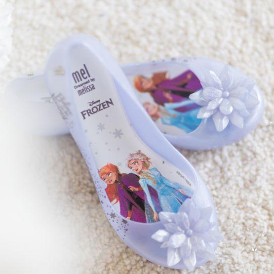 Mel Ultragirl + Frozen Shoes in Pearl Clear Glitter by Melissa