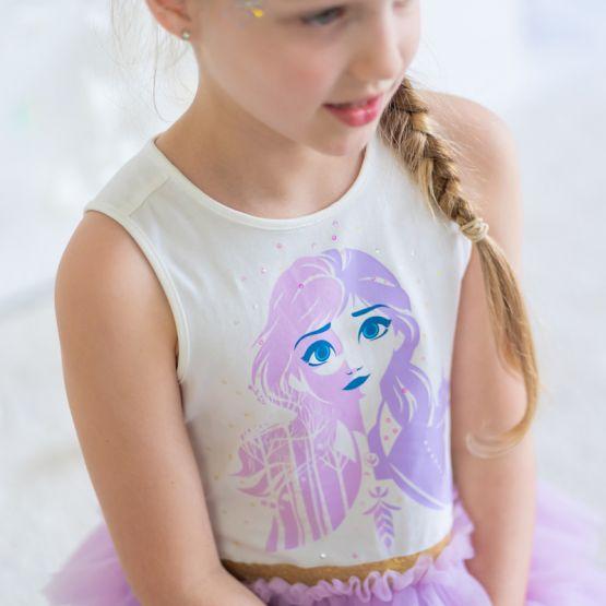 *Disney Frozen 2* Anna Tiered Tulle Dress in Purple