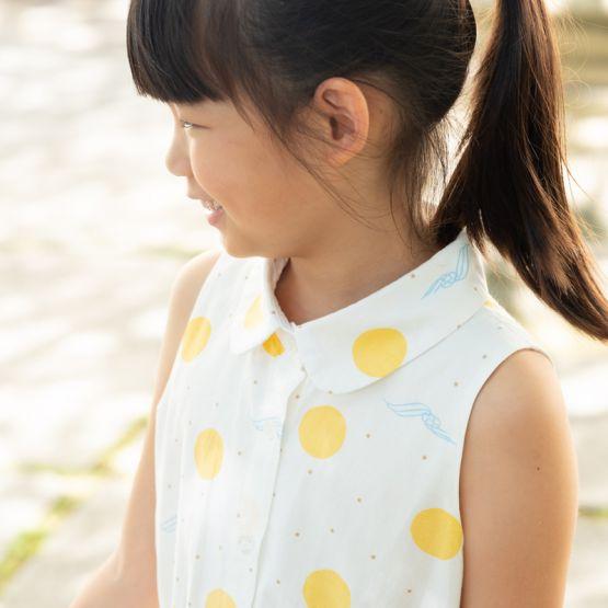 *New* Resort Series - Girls Shirt Dress in Sun & Waves Print