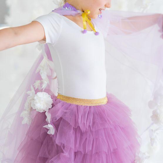 *Disney Frozen 2* Cascading Tulle Skirt in Dark Magenta