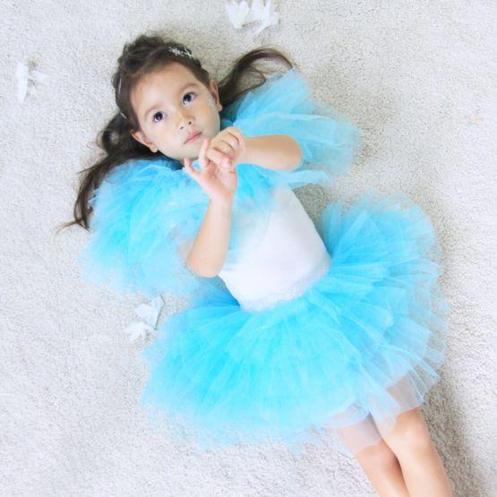 *Disney Frozen 2* Cascading Tulle Skirt in Turquoise