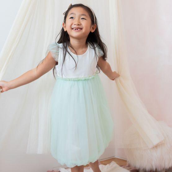 Flower Girl Series - Bubble Dress in Mint