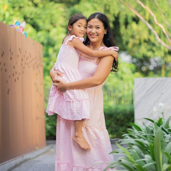 *New* Resort Series - Ladies Maxi Dress in Pink Gingham