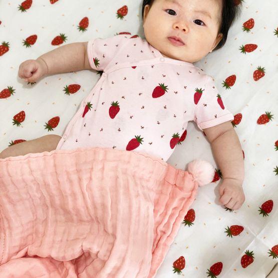 *Bestseller* Personalisable Keepsake Baby Blanket in Baby Pink