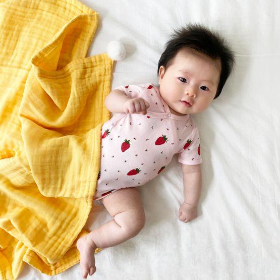 *Bestseller* Personalisable Keepsake Baby Blanket in Mustard