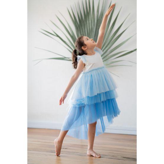 Flower Girl Series - Cascading Dress in Blue Hues
