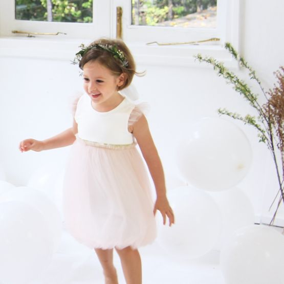Flower Girl Series - Bubble Dress in Soft Pink