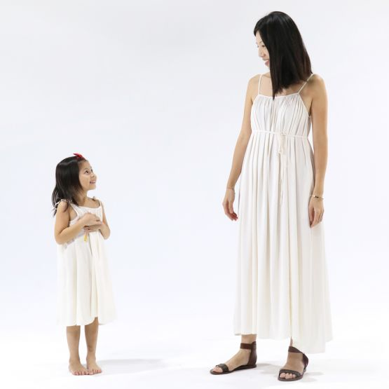 Cami Ivory White Girls Dress with Tassels