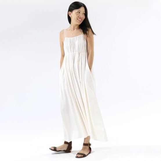 Cami Ivory White Ladies Swing Maxi Dress