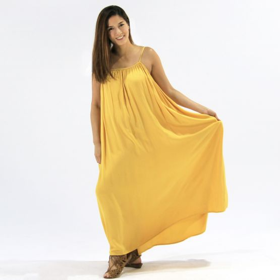 Cami Marigold Yellow Ladies Swing Maxi Dress