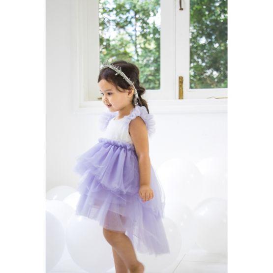 Flower Girl Series - Cascading Dress in Purple