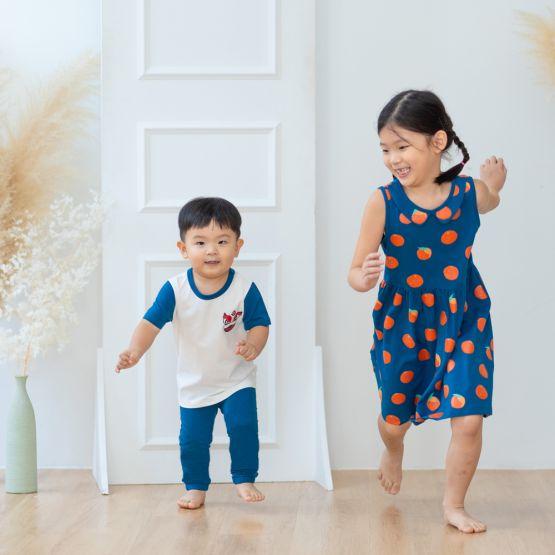 Lion Dance Series - Kids Jersey Set in Blue