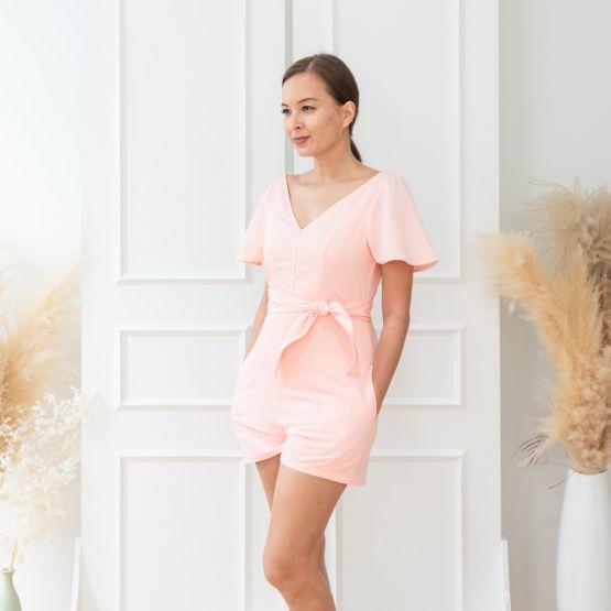 Ox Series - Ladies Romper in Light Pink