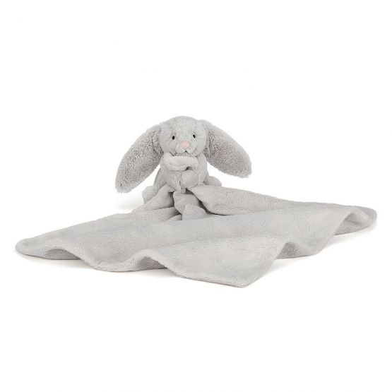 Personalisable Bashful Silver Bunny Soother by Jellycat