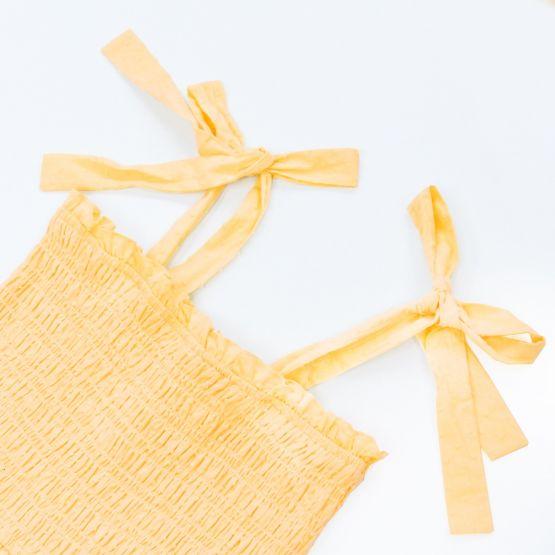 *New* Ladies Maxi Dress in Yellow Swiss Dot Cotton