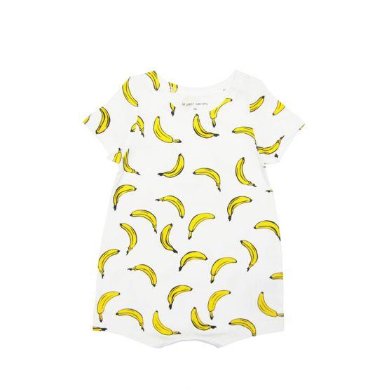 Baby Romper in Banana Print