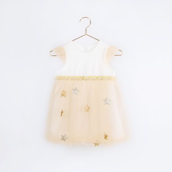 Ballerina Series - Bubble Dress in Champagne with Stars