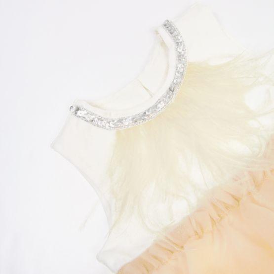 Ballerina Series - Cascading Dress in Champagne