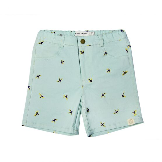 Chinese Knots Series - Boys Bermuda with Sparrows