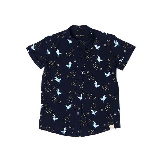 Crane Series - Boys Shirt in Navy