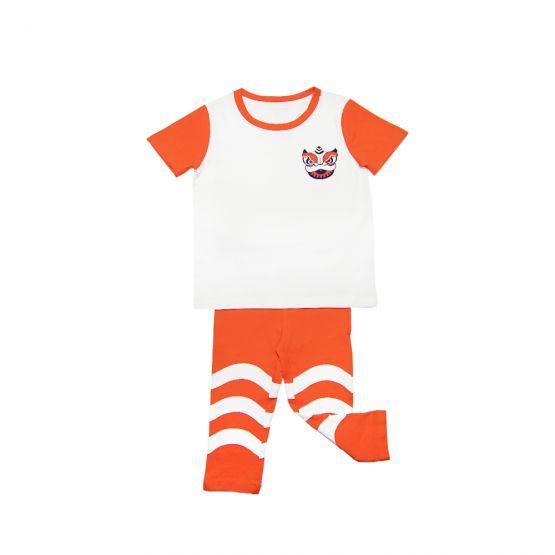 Lion Dance Series - Kids Jersey Set in Orange