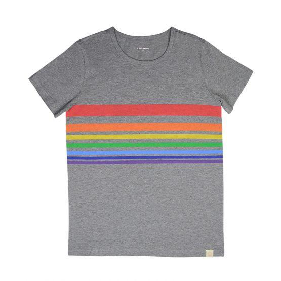 Slightly Imperfect Print - Adult Rainbow Tee in Melange Grey (Unisex)