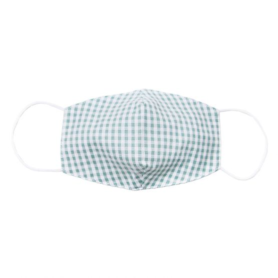Personalisable Reusable Kids & Adult Mask in Green Gingham