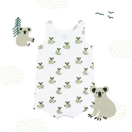 Baby Romper in Koala Print